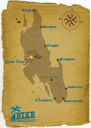 Spice-tour-on-bike-map
