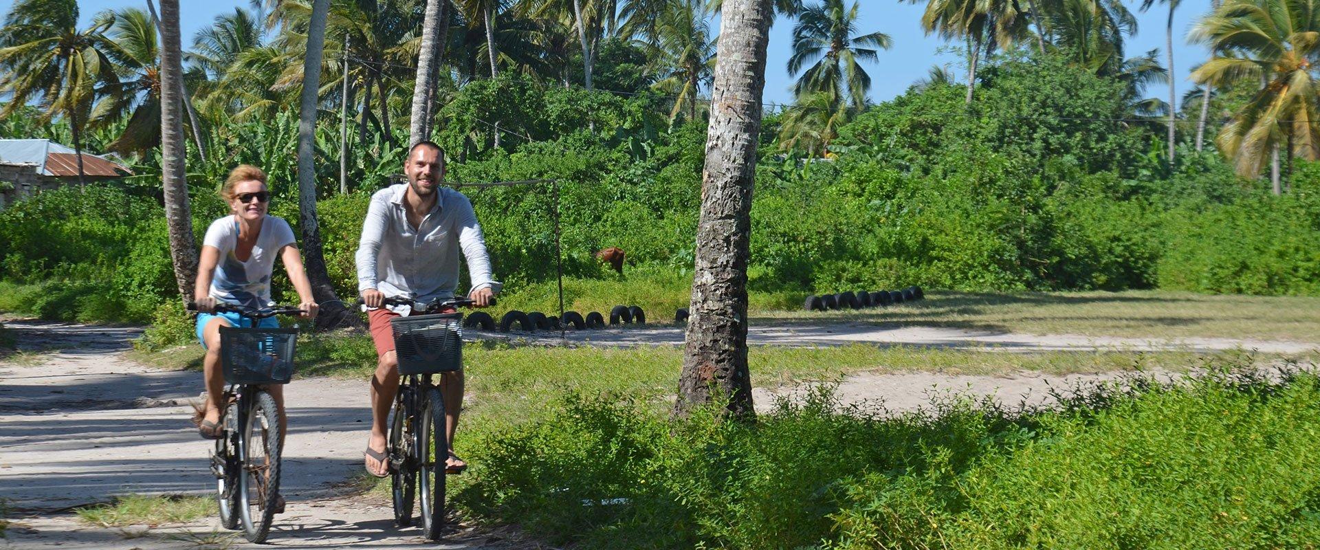 On the way to Kizimkazi when on the 10 days cycling tour around Zanzibar
